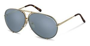 Porsche Design P8613 B-green grey green polarized + light blue, silver mirroredgold