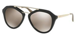 Prada PR 12QS 1AB1C0 LIGHT BROWN MIRROR GOLDBLACK