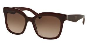 Prada PR 24QS UAN0A6 LIGHT BROWN GRAD DARK BROWNOPAL BORDEAUX ON BORDEAUX