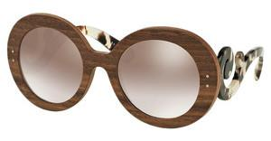 Prada PR 27RS IAM4O0 GRADIENT BROWN MIRROR SILVERNUT CANALETTO