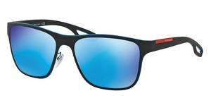 Prada Sport PS 56QS VHK5M2 LIGHT GREEN MIRROR BLUEAZURE/BLACK RUBBER