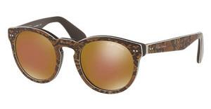 Ralph Lauren RL8146P 5645F9 MIRROR BRONZETOP PYTHON ON BROWN VINTAGE
