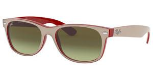 Ray-Ban RB2132 6307A6 MATTE BEIGE ON OPAL RED