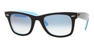 Ray-Ban RB2140 10013F CRYSTAL GRADIENT LIGHT BLUETOP BLACK ON TRANSP. AZURE