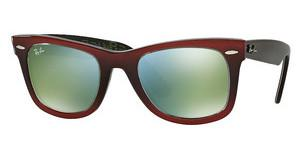 Ray-Ban RB2140 12022X MIRROR GREENTOP GRAD RED ON LIGHT RED