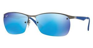 Ray-Ban RB3550 029/55 BLUE FLASHMATTE GUNMETAL