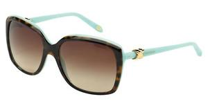 Tiffany TF4076 81343B BROWN GRADIENTTOP HAVANA/BLUE