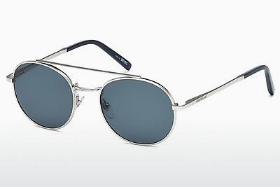 Sonnenbrille Mont Blanc MB604S 16V - Silber, Shiny, Grey