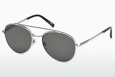 Sonnenbrille Mont Blanc MB605S 16D - Silber, Shiny, Grey