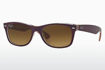 Sonnenbrille Ray-Ban NEW WAYFARER (RB2132 619285) - Purpur, Orange