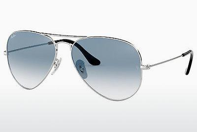 Sonnenbrille Ray-Ban AVIATOR LARGE METAL (RB3025 003/3F) - Silber