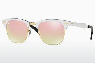 Sonnenbrille Ray-Ban CLUBMASTER ALUMINUM (RB3507 137/7O) - Silber