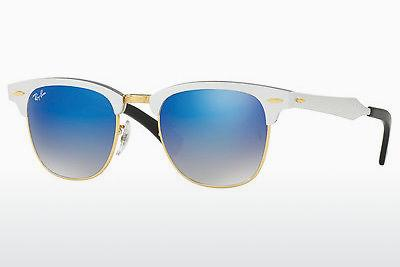 Sonnenbrille Ray-Ban CLUBMASTER ALUMINUM (RB3507 137/7Q) - Weiß