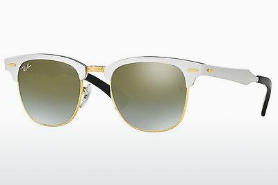 Sonnenbrille Ray-Ban CLUBMASTER ALUMINUM (RB3507 137/9J) - Silber