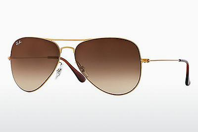Sonnenbrille Ray-Ban AVIATOR FLAT METAL (RB3513 149/13) - Gold, Sand