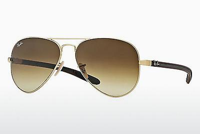 Sonnenbrille Ray-Ban AVIATOR TM CARBON FIBRE (RB8307 112/85) - Gold