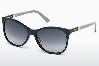 Sonnenbrille Tod's TO0175 90W - Blau, Shiny
