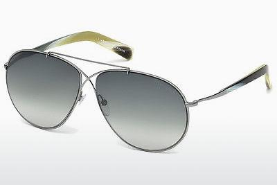 Sonnenbrille Tom Ford Eva (FT0374 15B) - Grau, Shiny, Matt