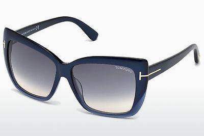Sonnenbrille Tom Ford Irina (FT0390 89W) - Blau, Grün