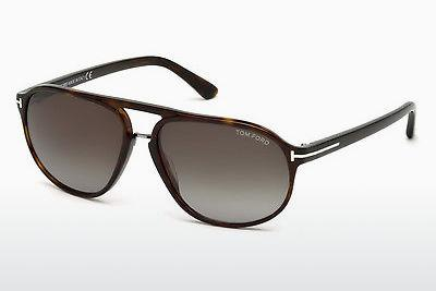 Sonnenbrille Tom Ford Jacob (FT0447 52B) - Braun, Dark, Havana