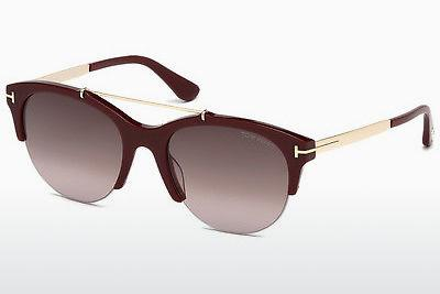 Sonnenbrille Tom Ford Adrenne (FT0517 69T) - Burgund, Bordeaux, Shiny