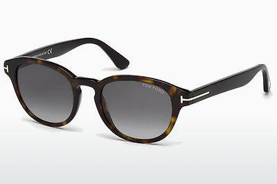 Sonnenbrille Tom Ford Von Bulow (FT0521 52B) - Braun, Dark, Havana