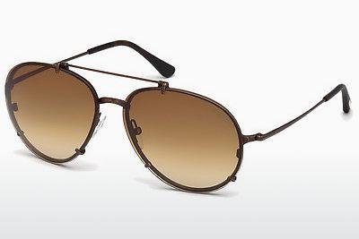 Sonnenbrille Tom Ford Dickon (FT0527 49J) - Braun, Dark, Matt