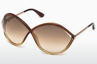 Sonnenbrille Tom Ford Liora (FT0528 50F) - Braun, Dark