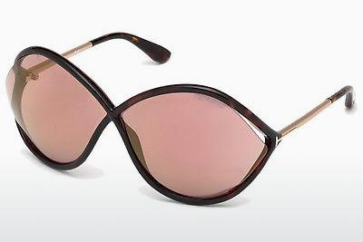 Sonnenbrille Tom Ford Liora (FT0528 52Z) - Braun, Dark, Havana