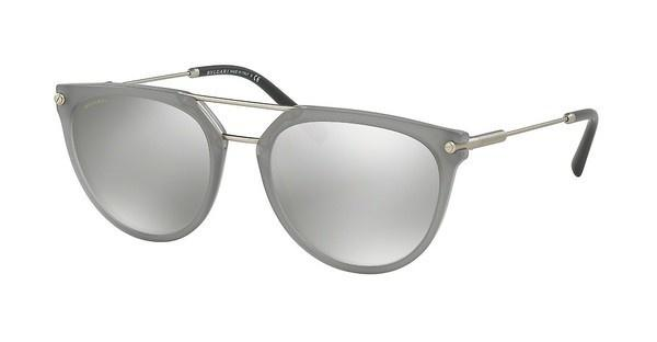 Bvlgari BV7029 54096G LIGHT GREY MIRROR SILVERMATTE GREY