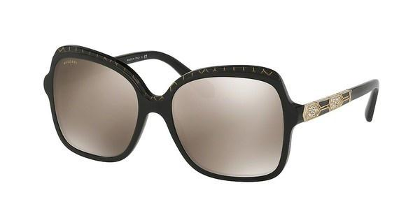 Bvlgari BV8181B 54205A LIGHT BROWN MIRROR GOLDBLACK PATTERN GOLD MESH/BLACK