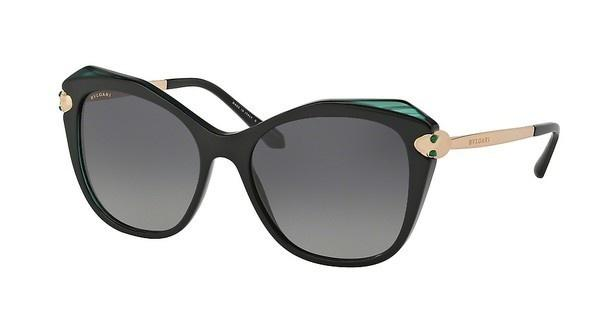 Bvlgari   BV8187KB 5417T3 POLAR GREY GRADIENTTOP BLACK/MALACHITE/BLACK