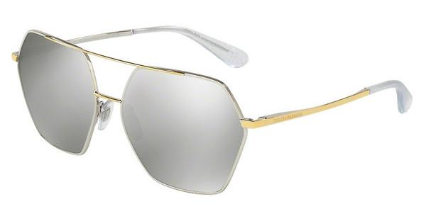 Dolce & Gabbana DG2157 13076G LIGHT GREY MIRROR SILVER?SILVER/GOLD