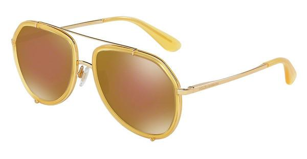 Dolce & Gabbana   DG2161 02/F9 BROWN MIRROR BRONZEOPAL HONEY/GOLD