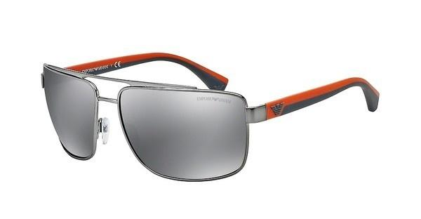 Emporio Armani EA2018 30106G LIGHT GREY MIRROR BLACKGUNMETAL