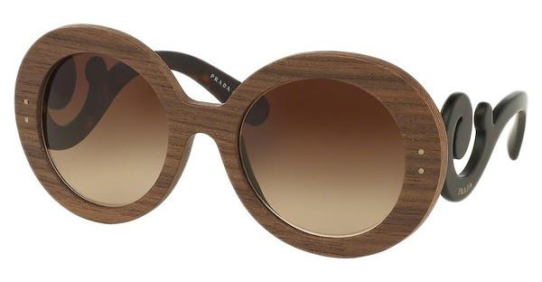 Prada PR 27RS IAM6S1 BROWN GRADIENTNUT CANALETTO