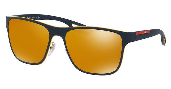 Prada Sport   PS 56QS VHM5N0 BROWN(ORANGE)/24K IRIDIUMYELLOW/BLUE RUBBER