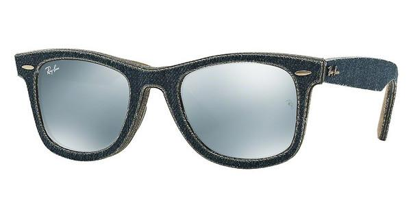 Ray-Ban RB2140 119430 LIGHT GREEN MIRROR SILVERJEANS BLUE/JEANS GREEN BROWN