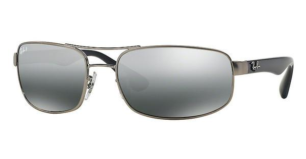 Ray-Ban RB3445 005/K3 POLAR GREY MIRROR GRAD GREYMATTE GREY