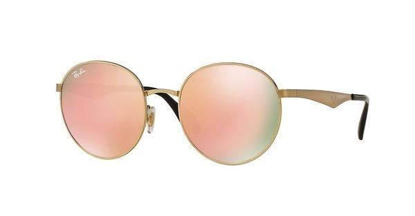 Ray-Ban RB3537 001/2Y BROWN MIRROR PINKGOLD