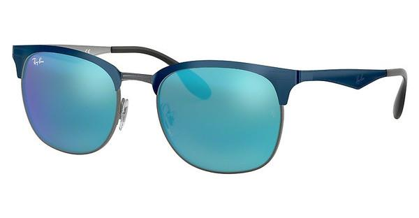 Ray-Ban RB3538 189/55 GREEN MIRROR BLUETOP BLUE ON GUNMETAL