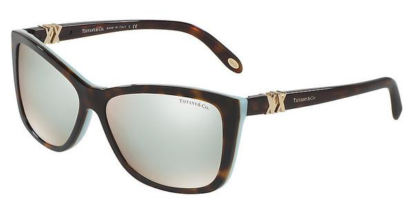 Tiffany TF4124 813464 BROWN MIRROR WHITEHAVANA/BLUE