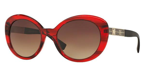 Versace VE4318 520313 BROWN GRADIENTTRANSPARENTE STRIPED RED