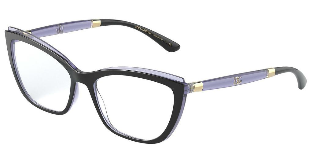 Dolce & Gabbana   DG5054 3274 BLACK/TRANSPARENT DARK VIOLET