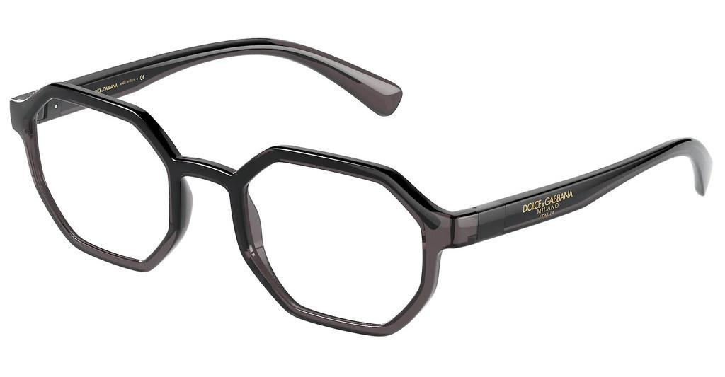 Dolce & Gabbana   DG5068 3257 TRANSPARENT GREY/BLACK
