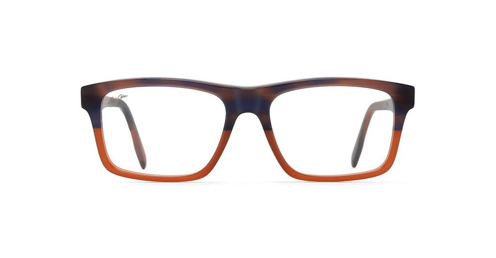 Maui Jim   MJO2124 79 Brown Blue Horn with Orange with Mountain Core