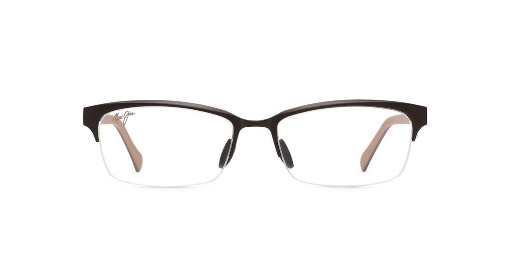 Maui Jim   MJO2701 25MC Brown Matte with Dark Brown and Beige Temples