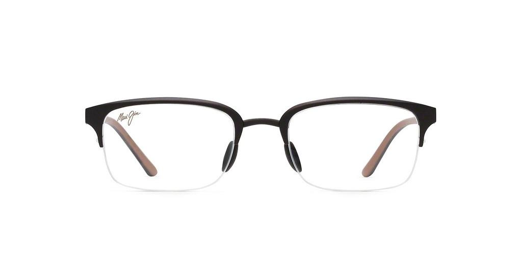 Maui Jim   MJO2703 25MC Brown Matte with Dark Brown and Beige Temples