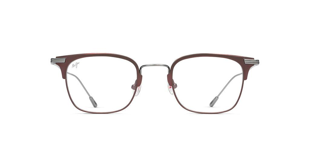 Maui Jim   MJO2711 90M Matte Burgundy Front with Gunmetal Bridge and Temples