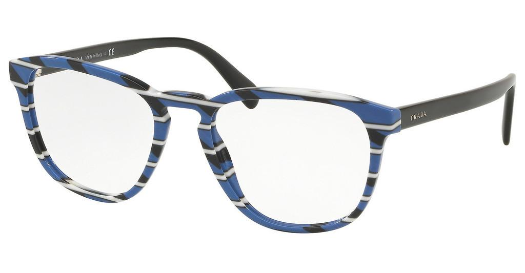 Prada   PR 09VV 3191O1 STRIPED GREY BLUE